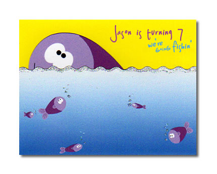 Fishing Childs Birthday Party InvitationHandcrafted Interactive – Fish Birthday Cards