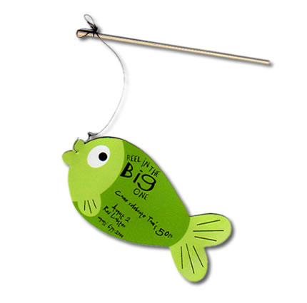Fishing Pole Party InvitationHandcrafted Interactive Birthday